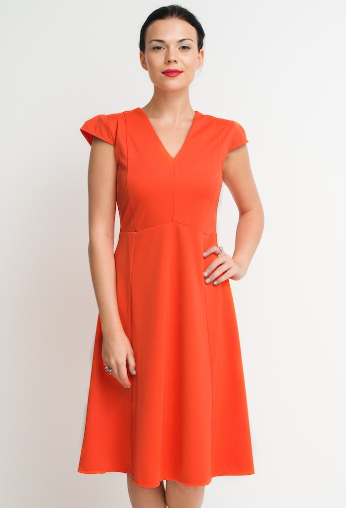 orange panel dress_full front slight zoom_prestashop size